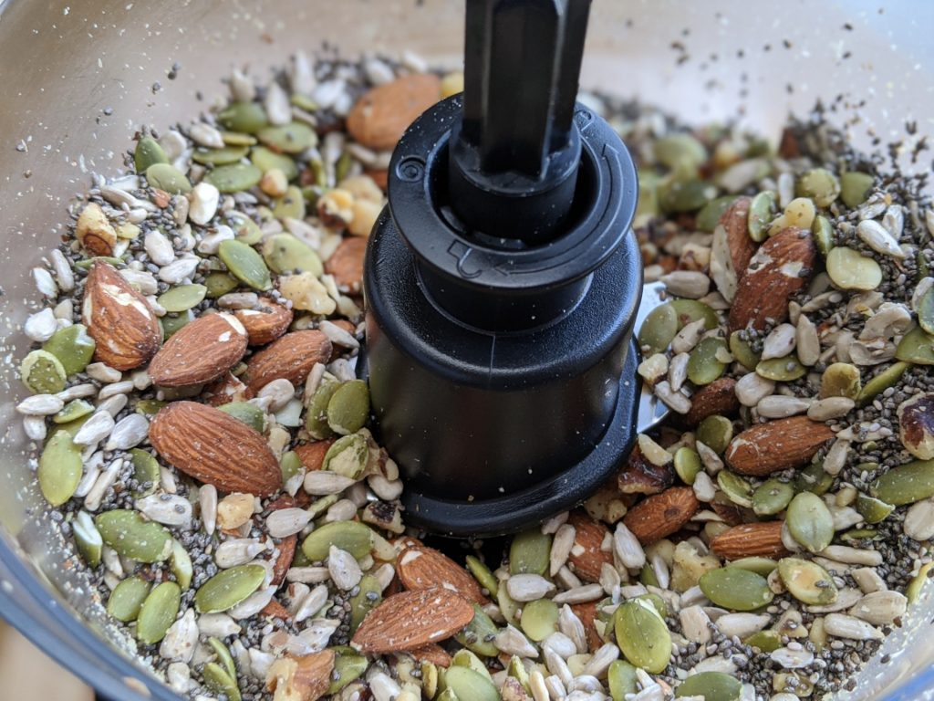 Using a food processor to breakdown the nuts